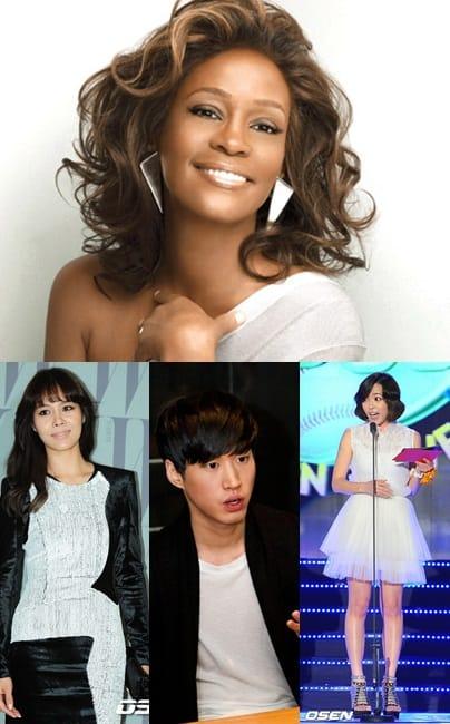 Корейские знаменитости скорбят о смерти Уитни Хьюстон