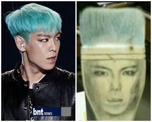 Щётка, напоминающая T.O.P. из Big Bang, заставила поклонников смеяться.