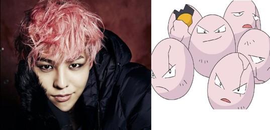 8_G Dragon of Big Bang & Exeggcute