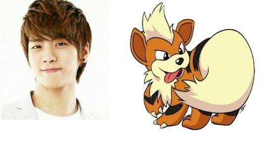 9_Jonghyun of SHINEE & Growlithe