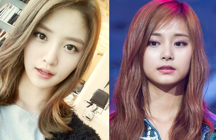TWICE Tzuyu and EXID Junghwa Are Doppelgangers