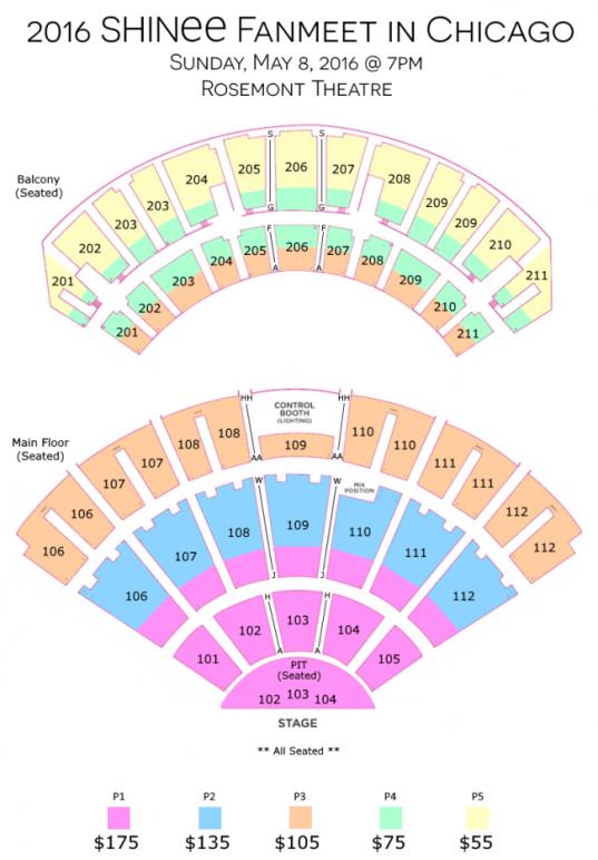SHINee_Rosemont_Seating_Chart