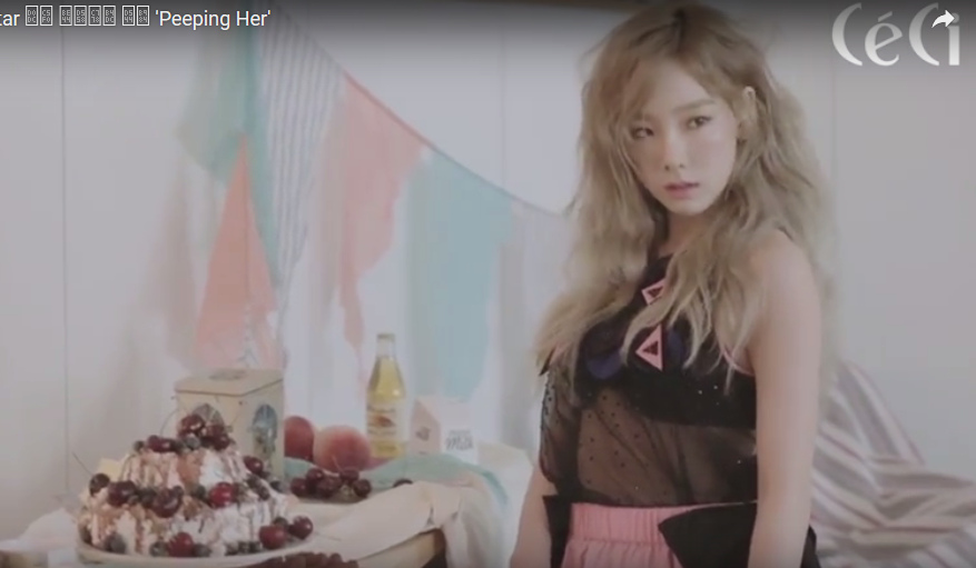 CeCi takes fans to peep at Taeyeon s photoshoot allkpop