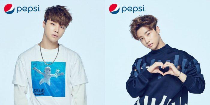 Вокалист группы iKON Джинхван для бренда Pepsi. Освежающий белый или стильный синий?