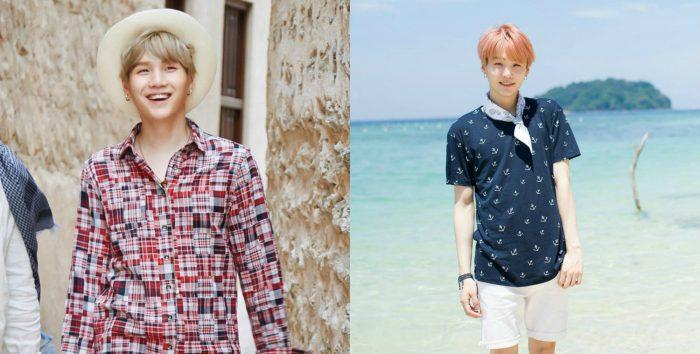 Два летних образа от участника группы BTS Юнги. Как думаете, ему идёт шляпа?