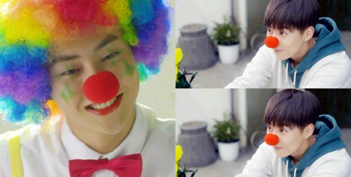 """Самый старший участник EXO Сюмин в дораме """"Я влюбилась в До Чона"""" предстал перед зрителями в двух образах: клоуна и обычного парня. Главная героиня предпочла что-то среднее, а что об этом думаете вы?"""