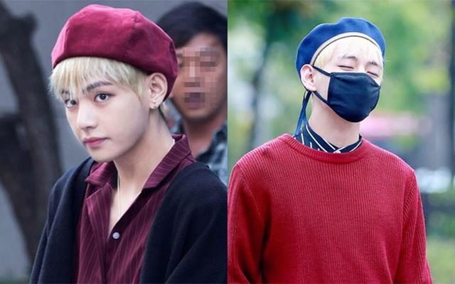 kpop-idols-beret-hats-2016-bts-v