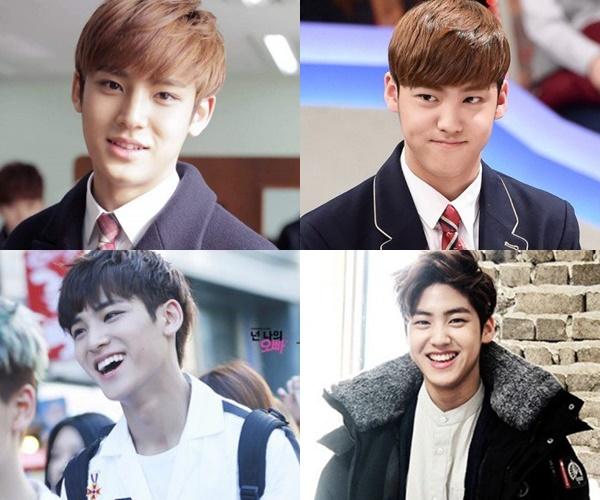 kpop-idols-who-look-alike-2016-seventeen-mingyu-myteen-song-yubin