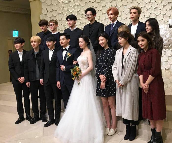 EXO и Red Velvet посетили свадебную церемонию тренера по вокалу из S.M. Entertainment